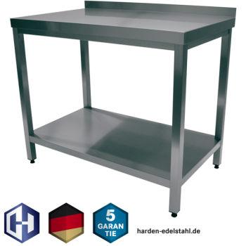 Arbeitstisch 1,0 x 0,6 m Edelstahltisch Gastro Edelstahl Tisch Edelstahlschrank